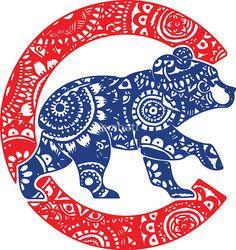 Cubs Bear Logo Doodle