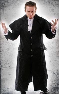 Dark Lord Gothic Kutschermantel Brokat