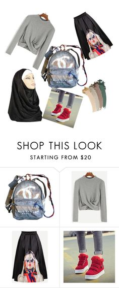 """Backpacks! #BacktoSchool edition und Hijab!"" by nabillasyarah ❤ liked on Polyvore featuring Chanel and Gucci"