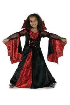 Mädchen Kostüm Spinne rot schwarz 5-6J.