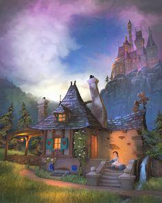 Belle Daydreams - by Joel Payne at www.disneyartonmain.com