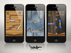 "Graphics for the iOS game ""All For Nuts"" by Paul Levchuk, via Behance"