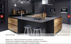 Modern Kitchen Design : nouveauté cuisine design 2016 2017 quand le bois chaud et structuré sharm Kitchen Room Design, Kitchen Cabinet Design, Luxury Kitchen Design, Luxury Kitchens, Home Decor Kitchen, Kitchen Living, Interior Design Kitchen, Kitchen Furniture, New Kitchen