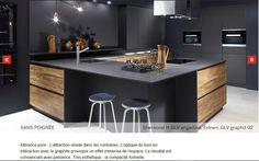 nouveauté cuisine design 2016 2017 quand le bois chaud et structuré s'harmonise avec une laque mate anthracite http://amzn.to/2qVhL6r