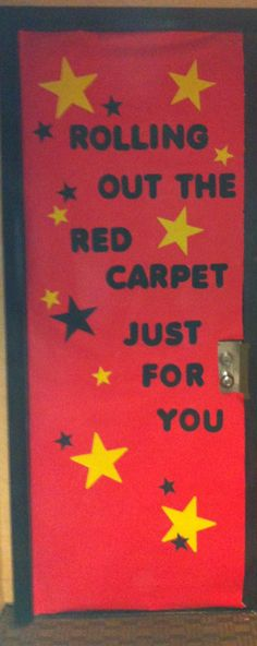 Therapist Appreciation Week aka Teacher Appreciation Week... Classroom Door Decorations... Hollywood Theme