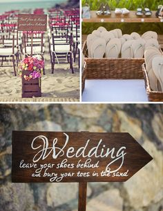 No one wants to walk on the sand in heels, so leave your shoes behind at a beach wedding!