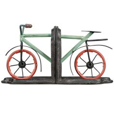 Tabletop Bicycle Book Ends By Ashland