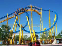 Where me harlie courtney and kaitlyn will be heading for the weekend :)!!  Goliath | Six Flags Fiesta Texas | USA