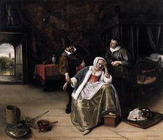 Jan Steen - Polsvoelende dokter (Meisje met liefdesverdriet)