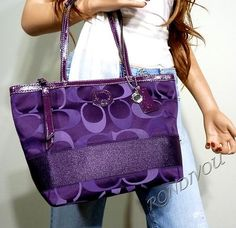 Oh My Good God! Purple Coach bag? Yes please. Gimmie gimmie!!  SWEET  #OPIEuroCentrale #polkacom