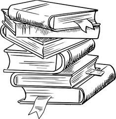 Stack of books with bookmarks Royalty Free Vector Image , Pile Of Books, Stack Of Books, Coloring Books, Coloring Pages, Book Clip Art, White Books, Book Drawing, Book Tattoo, Book Images