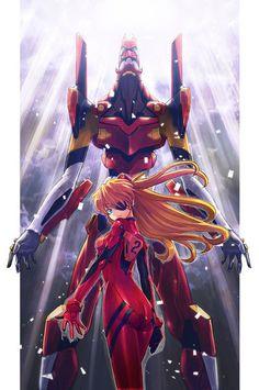 Neon Genesis Evangelion - Eva 02 and Asuka
