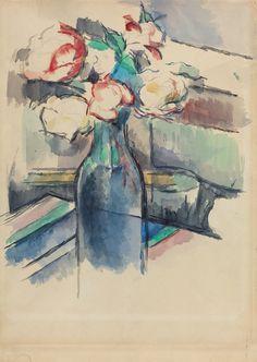 Roses in a Bottle, 1900-05.  Paul Cezanne