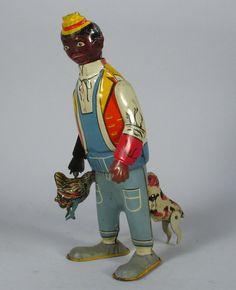Marx Chicken Snatcher. Wind up tin toy from 1920s/ebay