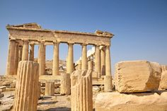 The Acropolis in Athens Greece