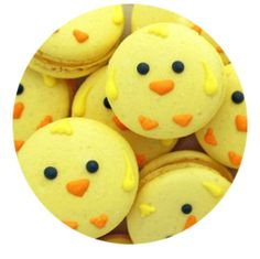 easter, easter sweets, french macaroons, easter macaroons, chick, spring, spring macaroons, Chick Shaped Macaroons