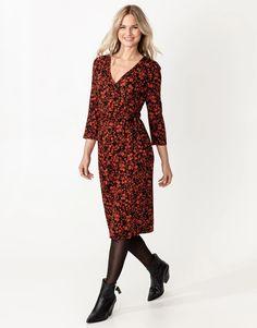 Patterned waist tie wrap dress | Indiska.com