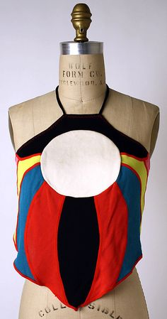Halter Top, Stephen Burrows, mid to late 1970s, American, rayon and synthetics