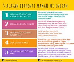 Alasan Berhenti Makan Mie Instan ~ Infografis Kesehatan Healthy Menu, Healthy Tips, Health Advice, Health Care, Midwifery, Health Center, Health Education, Health And Beauty, Healthy Lifestyle