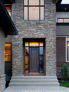 Exterior Photos Front Door Design Ideas, Pictures, Remodel, and Decor - page 2 House Doors, House Entrance, Entrance Doors, Entrance Ideas, Main Entrance, Front Door Design, Entrance Design, Exterior Cladding, Exterior Doors