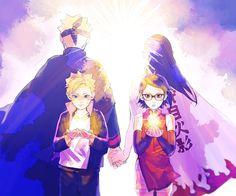 Me gusta, 29 comentarios - うちはサラダ🌻 Naruto Uzumaki, Anime Naruto, Sarada E Boruto, Naruto Fan Art, Naruto Sasuke Sakura, Naruto Comic, Naruhina, Sarada Uchiha Wallpaper, Naruto Wallpaper