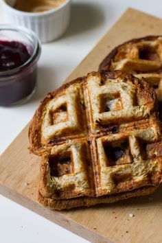 The Ultimate GrilledSandwich - Grill using a waffler maker! Genius!