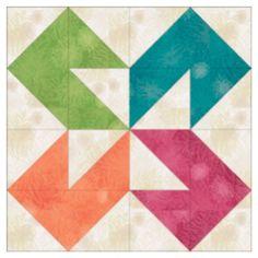 Block #4- Colorado Pattern Download |AccuQuilt| Barn Quilt Patterns, Pattern Blocks, Half Square Triangle Quilts, Square Quilt, Star Quilts, Quilt Blocks, Star Blocks, Quilting Projects, Quilting Designs