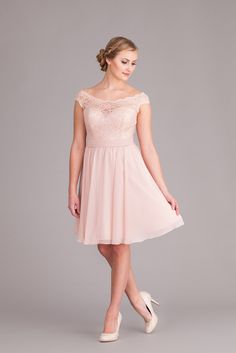 Short lace/chiffon dress style 31054 Bridesmaids Dresses Lace ...