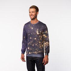 Earth At Night Sweater // Black + Dark Blue (XS)