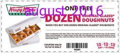 Free Printable Coupons: Krispy Kreme Coupons