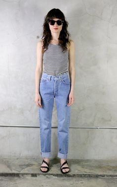 Vintage Levis Jeans, 80s Levis, womens levis, high waisted, denim, minimal, bohemian, Levi's, 544, vintage Levis by youngandukraine