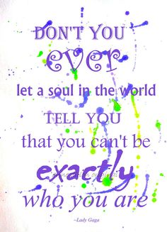 Lady Gaga quote, motivational instant download, quote on original watercolor painting, lovely gift idea, purple and green artwork, inspiring