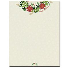 Happy Holiday Wreath Letterhead Sheets – Sophie's Favors and Gifts
