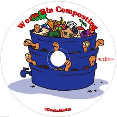 Build a Worm Bin Composer 3 Books cd Use Make Plans Design Farm Factory Compost