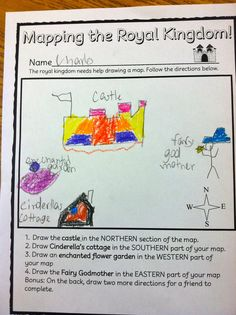 Mapping the royal kingdom: map skills to go along with cinderella fairy tale unit.