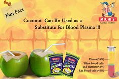 Coconut Can Be Used as a Substitute for Blood Plasma !!!