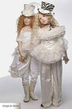 hildegard gunzel beautiful collectible museum porcelain wax Magie and Allure Dolls