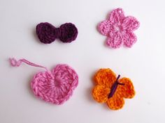 Easy and cute crocheted things /tutorial - Petites choses faciles et mignonnes à faire au crochet / tutorielby Chez Violette - http://chicandrusticcrochet.blogspot.fr/