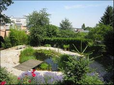 Beautiful garden with biotope