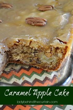 Caramel Apple Cake- this looks amazing!