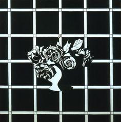 Patrick Caulfield 'Black and White Flower Piece', 1963 © The estate of Patrick Caulfield. All Rights Reserved, DACS 2015 Le Pop Art, James Rosenquist, Claes Oldenburg, Black And White Artwork, Trellis Pattern, A Level Art, Royal College Of Art, Art Uk, Pop Music