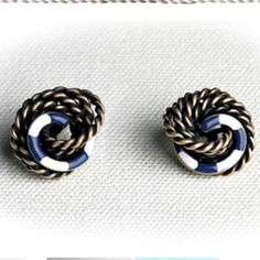 Keil James Patrick knotted earrings!