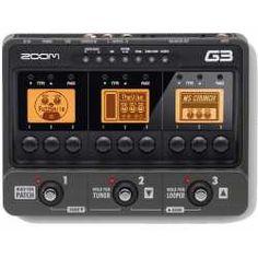 Pedalera multi-efectos de suelo para guitarra Zoom G3