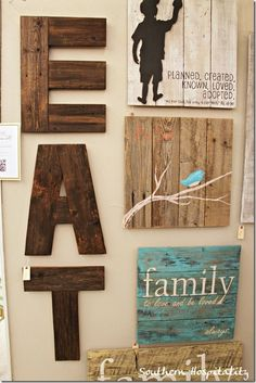 Could totally make these wood letters for the kitchen