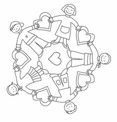 World Thinking Day mandala coloring page Pattern Coloring Pages, Mandala Coloring Pages, Harmony Day, Rangoli With Dots, World Thinking Day, Kids Around The World, Bible Crafts, Child Day, Colorful Pictures
