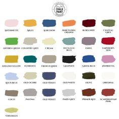 Annie Sloan Chalk Paint™ decorative paint at Atelier Autêntico - colour palette