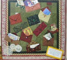quilt shop calendar  | Merry Mail Christmas Quilt
