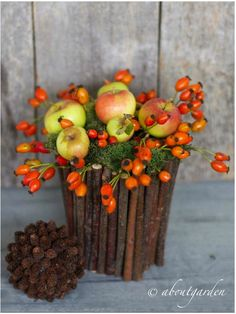 rose-hip and apple decoration