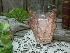 Set of 4 Vintage Anchor Hocking Pink Depression Glass Small Serving Cups by allthatsvintage56 on Etsy