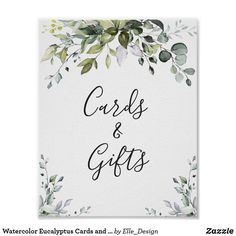 Custom Stationery, Custom Invitations, Wedding Signs, Wedding Cards, Bridal Shower Cards, Eucalyptus Wedding, Christmas Card Holders, Custom Posters, Customized Gifts